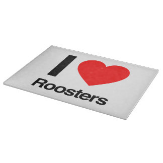 i love roosters cutting board