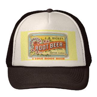 I LOVE ROOT BEER - VINTAGE ADVERT CAP
