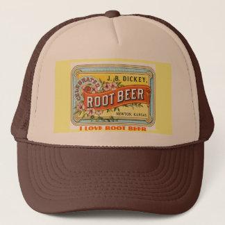 I LOVE ROOT BEER - VINTAGE ADVERT TRUCKER HAT