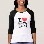 I Love Rothbard Ladies Softball Tee