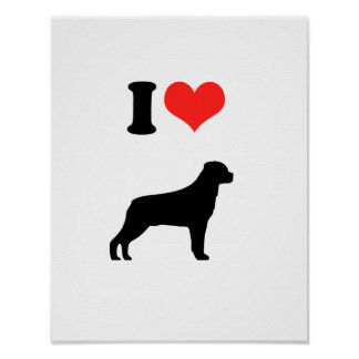 I Love Rotweiler Posters