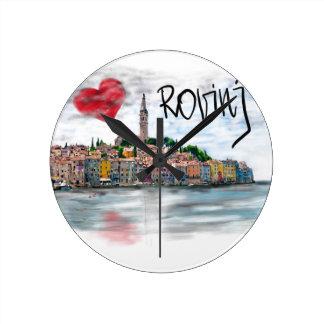 I love Rovinj Round Clock