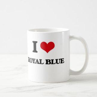 I Love Royal Blue Coffee Mug
