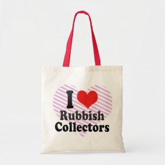 I Love Rubbish Collectors Bag