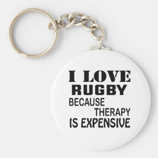 I Love Rugby Because Therapy Is Expensive Key Ring