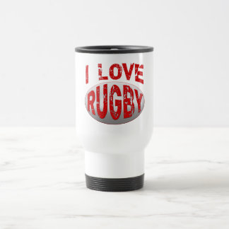 I Love Rugby Tshirts, Apparel and Products Travel Mug
