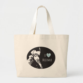 I Love Rumi Tote Bag