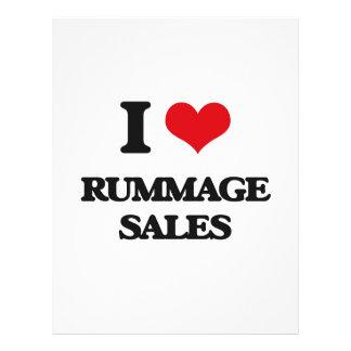I Love Rummage Sales Flyer Design