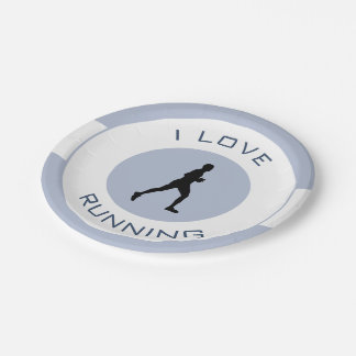 I LOVERUNNING 7 INCH PAPER PLATE