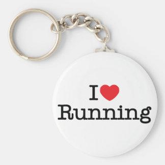 I love running basic round button key ring