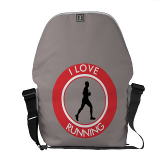 I LOVERUNNING COURIER BAG