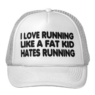 I Love Running Trucker Hats