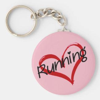 I Love Running Key Ring