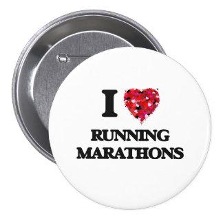 I love Running Marathons 7.5 Cm Round Badge