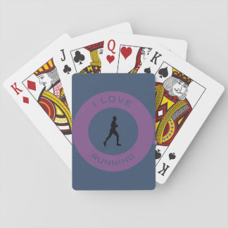 I LOVE RUNNING PLAYING CARDS