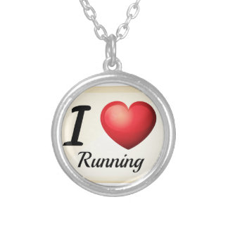 I love running round pendant necklace