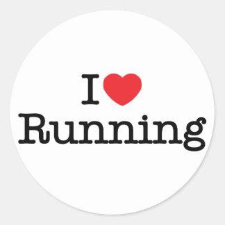 I love running round sticker