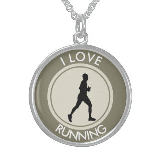 I LOVE RUNNING STERLING SILVER NECKLACE