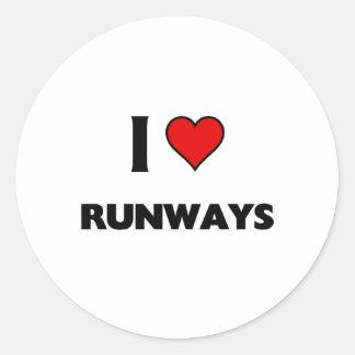 I love Runways Classic Round Sticker