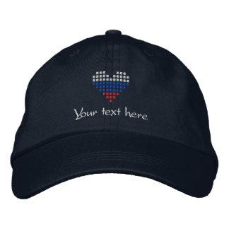 I Love Russia Cap - Russian Heart Flag Hat