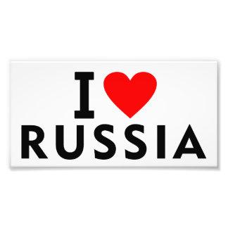 I love Russia country like heart travel tourism Photo Print