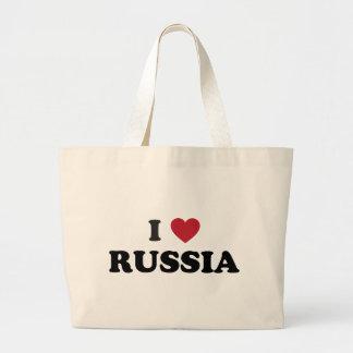 I Love Russia Jumbo Tote Bag