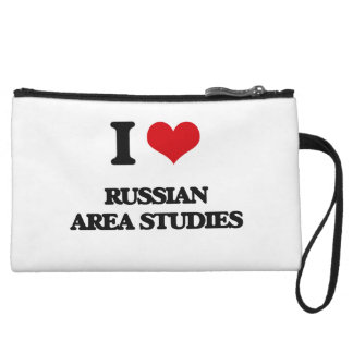 I Love Russian Area Studies Wristlet Clutches