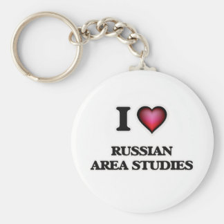 I Love Russian Area Studies Basic Round Button Key Ring