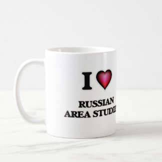 I Love Russian Area Studies Basic White Mug