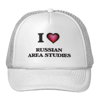 I Love Russian Area Studies Cap