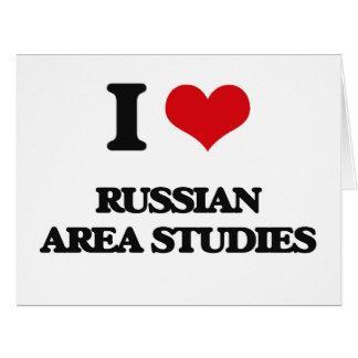 I Love Russian Area Studies Big Greeting Card