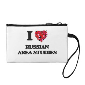 I Love Russian Area Studies Coin Wallet
