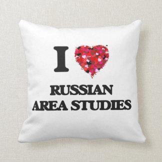 I Love Russian Area Studies Cushion