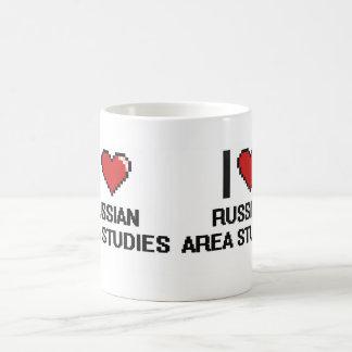 I Love Russian Area Studies Digital Design Basic White Mug