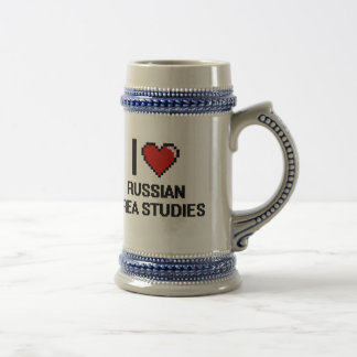 I Love Russian Area Studies Digital Design Beer Steins