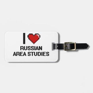 I Love Russian Area Studies Digital Design Tags For Bags