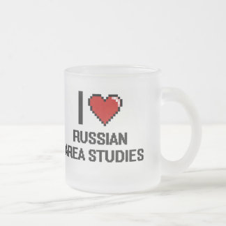 I Love Russian Area Studies Digital Design Frosted Glass Mug