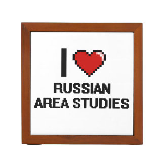 I Love Russian Area Studies Digital Design Pencil/Pen Holder