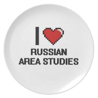 I Love Russian Area Studies Digital Design Plates