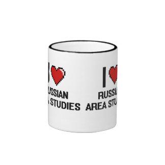 I Love Russian Area Studies Digital Design Ringer Mug