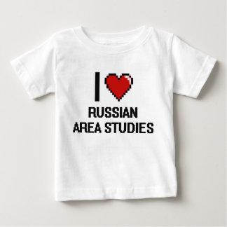 I Love Russian Area Studies Digital Design Tee Shirts