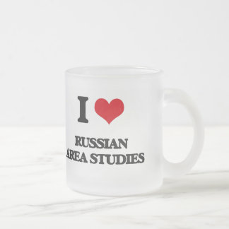 I Love Russian Area Studies Frosted Glass Mug