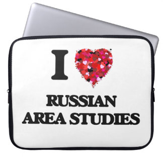 I Love Russian Area Studies Laptop Computer Sleeves