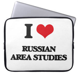 I Love Russian Area Studies Computer Sleeves