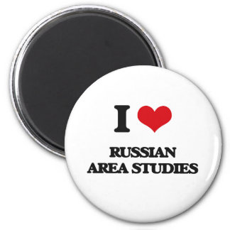 I Love Russian Area Studies 6 Cm Round Magnet