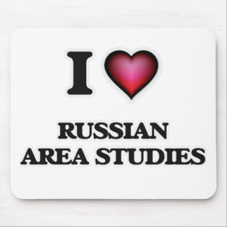 I Love Russian Area Studies Mouse Pad