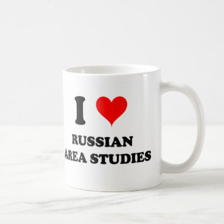 I Love Russian Area Studies Basic White Mug