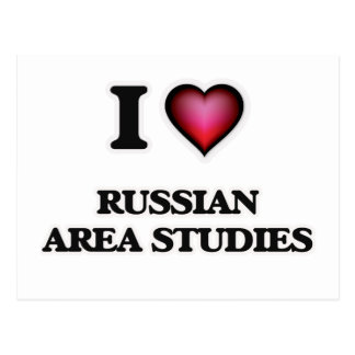 I Love Russian Area Studies Postcard