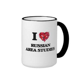 I Love Russian Area Studies Ringer Mug
