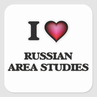 I Love Russian Area Studies Square Sticker
